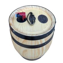 alta qualidade artesanal de madeira pequeno barril de vinho madeira