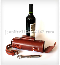 genuine leather wine bottle carriers and bottle leather wine carrier