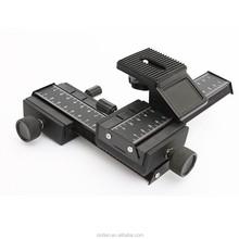Alta calidad barato de la fábrica 4 Way enfoque Macro Rail para la cámara, accesorios de la cámara