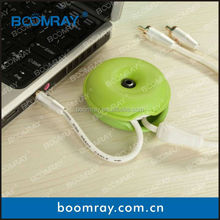 Boomray wholesale round soft TPR turtle silicone cable winder