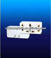 Universal PC+ABS adapter with European/U.K plug and switch and CE approval
