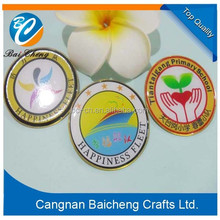 promotional adorable students' metal lapel badge with factory price and top quality as business gift and souvenirs for partner