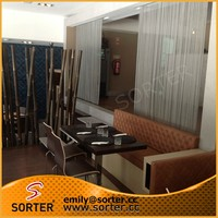 High qualtity hot sale flexible aluminum metal wire mesh curtain room dividers