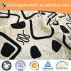 waterproof polyester decorative crushed flocking velour fabric