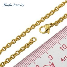 imitation gold necklace in simple O shape