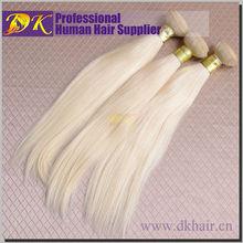 Raw brazilian virgin human hair extension blonde hairs weave