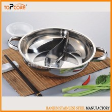 Stainless Steel Hot Pot 2 side divider
