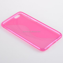 shenzhen S line tpu bumper pc phone case back cover for IPHONE 6 PLUS or oem service