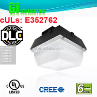 6 years warranty DLC UL cUL High Bay Led Canopy Lighting Fixture