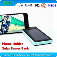 best quality 15000mah battery solar power bank with dual charging port for mobile phone