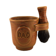2014 Handmade Pottery Gift for Dad Customized Shaving Mug