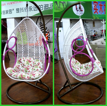 wicker hanging swing chair/indoor rattan swing chair/swing chair stand