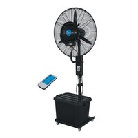 Portable remote control water spray cooling fan with SAA/CE/ROHS/PSE