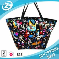 Wave Top Self Stand PP Woven Carry All Shopper