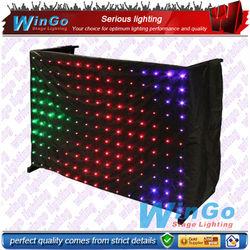 WG-G3036 christmas design shower curtain/led star vision curtain/transparent shower curtains