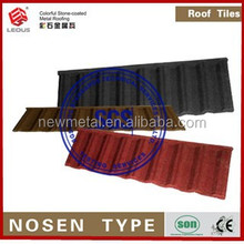 synthetic tile roofing/synthetic thatch roof/colorful stone chip coated steel roof tile