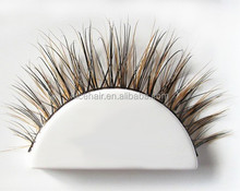 Brown color False Eyelashes for sale long thick Cross eye lashes Makeup individual false eyelashes with private label