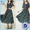 Yihao Women New Fashion Elegant Sexy Short Sleeve Evening Party Cocktail Maxi Long Chiffon Dress With Lace
