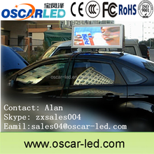taxi top advertis acrylic mask waterproof outdoor video led display