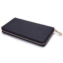 MSC33 Best Zip Around Travel Man Genuine Leather Wallet
