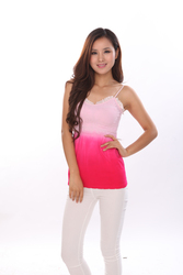 dip dye tank top with pretty lace seamless clothing supplier china