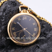 High quality simple style gold plain pocket watch in bulk
