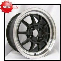 Black +white lip alloy rims 6*139.7 ET -10 17*9