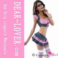 Flirty Farm pink School Girl Costumes