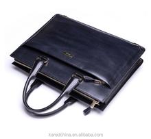 Fashion men shoulder bag genuine leather custom printed tote handbag