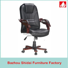 used conference chairs / swivel chair wood base / swivel leather manager office chair