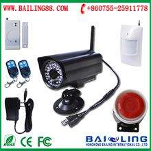 Diy wireless home security alarm GSM SMS camera
