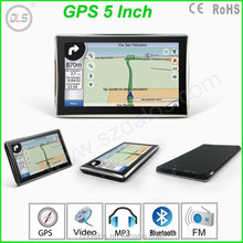 Hot!!!5 inch gps navigation 128M +4G ,good quality 5 inch navigator with world map ,CE repots for gps car different languages