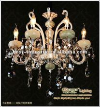 Traditional chandeliers and pendant lamp,pendant lamp with asfour crystal&jade