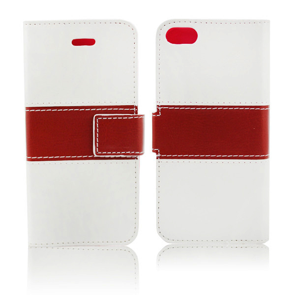 Crystal material hit color smart multi leather case for iphone 5