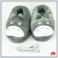 New women ladies cute warm soft plush indoor electric House heating slippers shoes