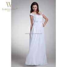 Cheap chiffon crystal wedding dresses for pregnant women
