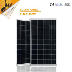 Rack adjustable A grade cells 150w poly solar panel with CE SGS certification