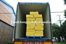 Needle punched nonwoven floor cleaning yellow mop (HY-FC003)