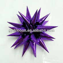 "4.5""dia purple Firework ribbon bow for Halloween Decorate/Easter Ornament"