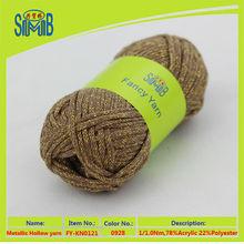Oeko-Tex companies that produce hollow yarn in china supply composition of lurex yarn acrylic tube yarn