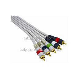 wholesale rca volume control vga to rca splitter 3.5mm male stereo jack to 3 female rca plugs cable