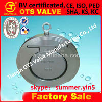 CV-SY-512 competitive price of SS304 SS316 single disc wafer check valve with or without rubber seal