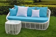 living room luxury rattan sofa set / new trendy cane rattan sofa set white 303025