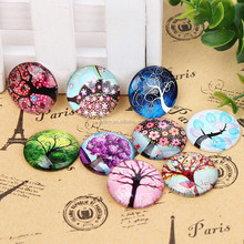DBL15323 Handmade Photo Family Tree Glass Cabochon Fit 25mm Bezel Setting Jewelry