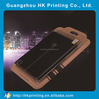 customized kraft paper cell phone case packing box