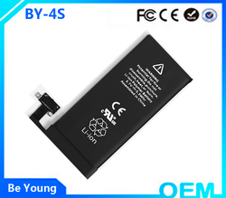 Professional battery for phone 3.7v rechargeable battery for iphone 4s wholesales battery