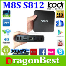 tv box s812 m8s 2gb 8gb quad core androide hd internet google tv box , xbmc kodi 14.2 tv box