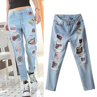 VT129 latest new model jeans for lady