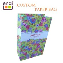 Colorful and flowers offset printing shopping bag paper gift packing bag for girl with Jewelry package