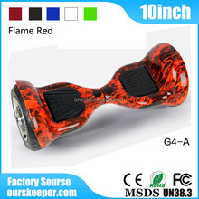 2016 hot 10 inch 2 wheel self balancing electric scooter samsung battery